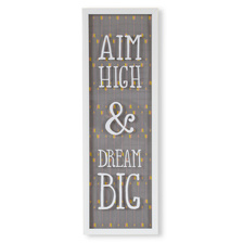 Декор для стен Aim high & dream big