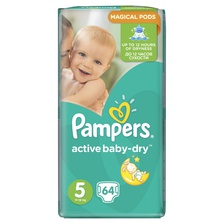Подгузники Active Baby-Dry Junior 11-18 кг 64 шт